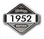 VIntage Edition 1952 Classic Retro Cafe Racer Design External Vinyl Car Motorcyle Sticker 85x70mm